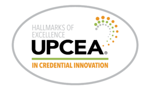 UPCEA Hallmarks of Excellence in Credential Innovation logo