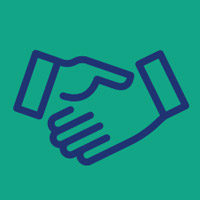 Hands Shaking - Community and Economic Engagement Network Icon